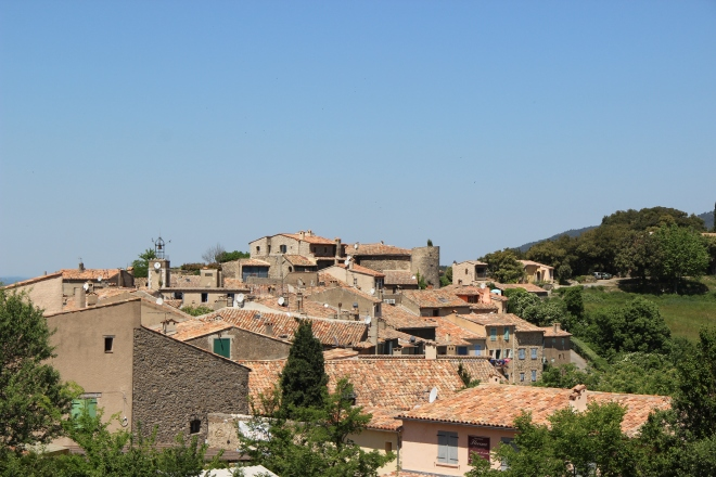 from the opposite hill, a higglety pigglety mish mash of roofs