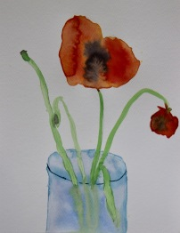sandra's poppies right hand