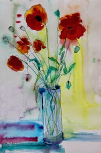 Tess left handed poppies