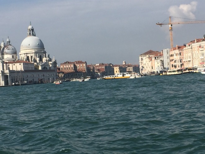 busy Venice from the water