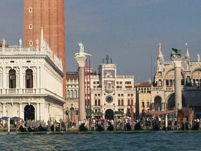 Saint Mark's Square from boat bus