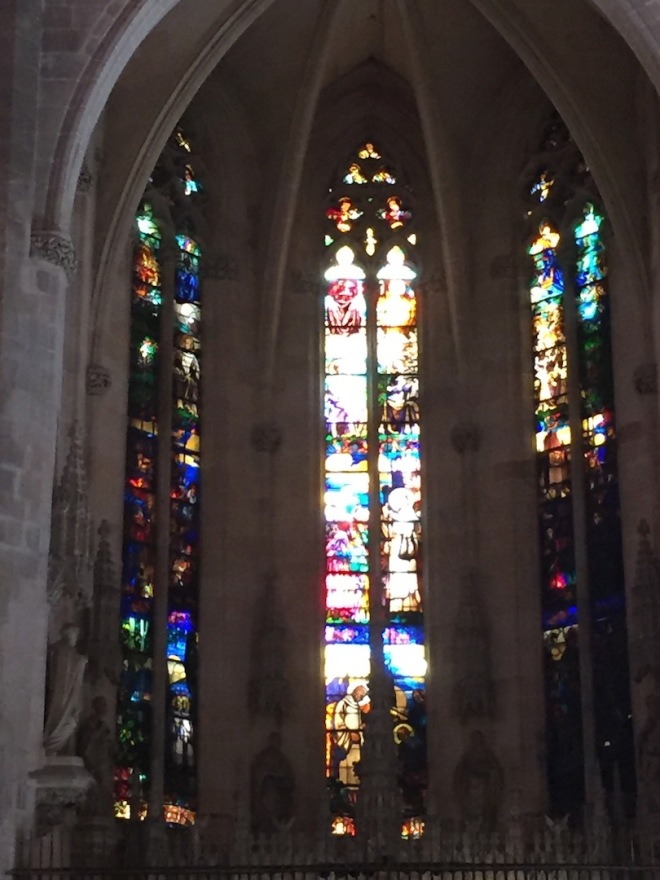 Stained Glass Windows. Cathedral Palma