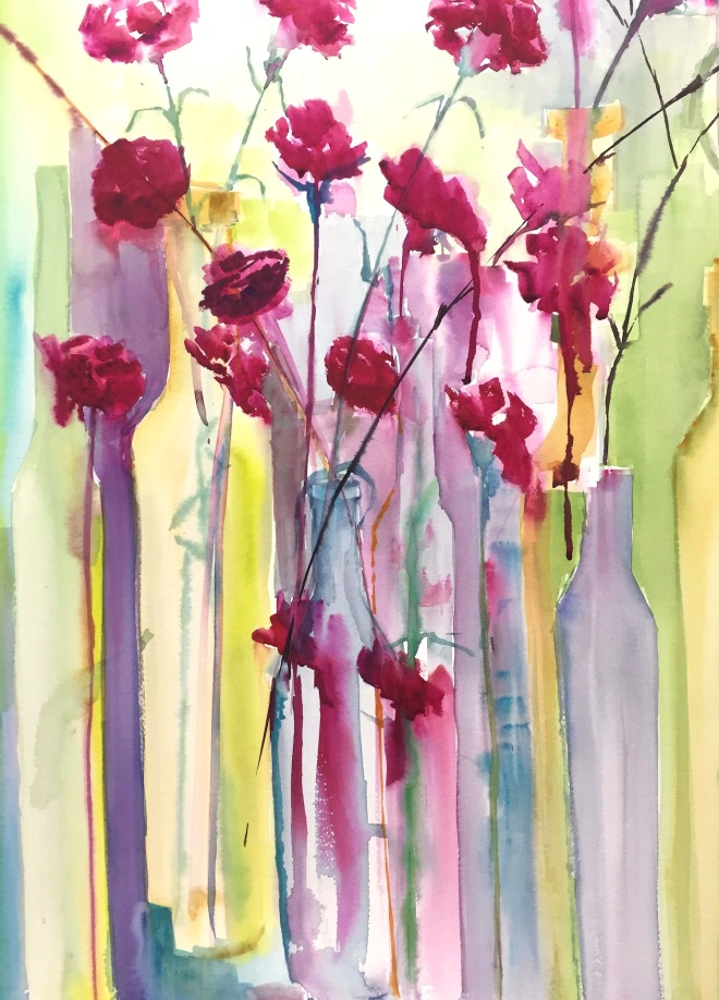 Carnations. Paint Provence with Tess