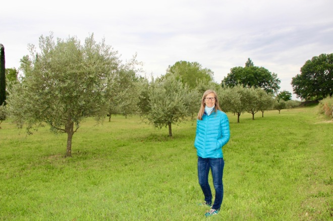 Anna in our olive grove