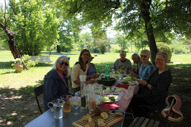 Lunch at our house in Provence